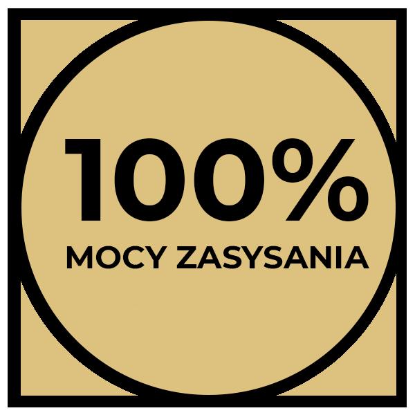 100% mocy zasysania